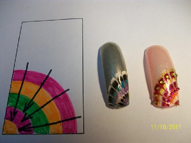 техника дизайна ногтей: