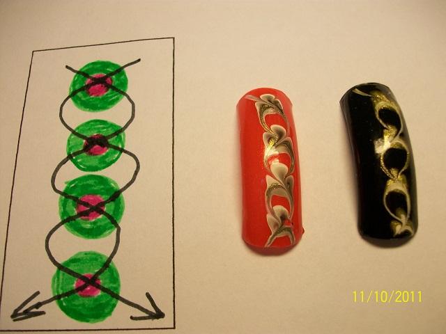 Рисунки на ногтях иголкой для начинающих пошаговое в домашних условиях