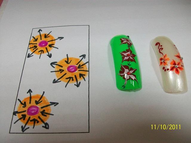 Вариантов росписи ногтей в