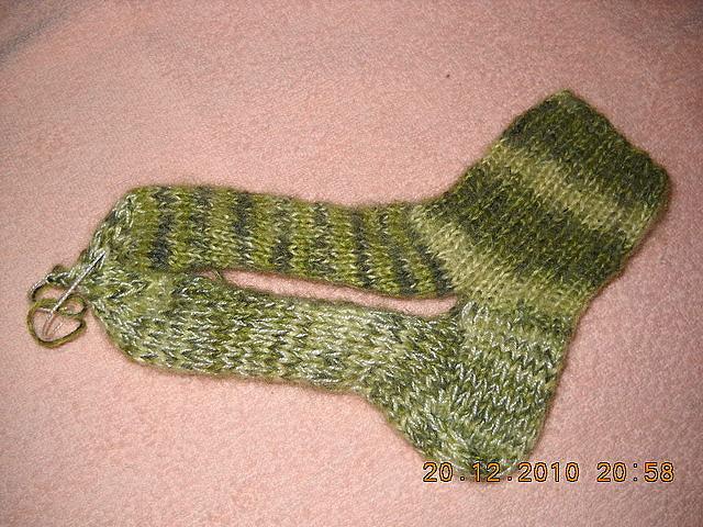 Вязание спицами носки с подошвой