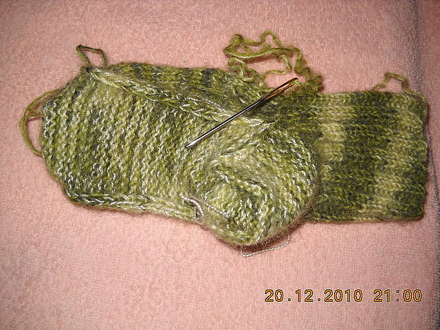 Мастер класс вязание носков на 2-х спицах 77
