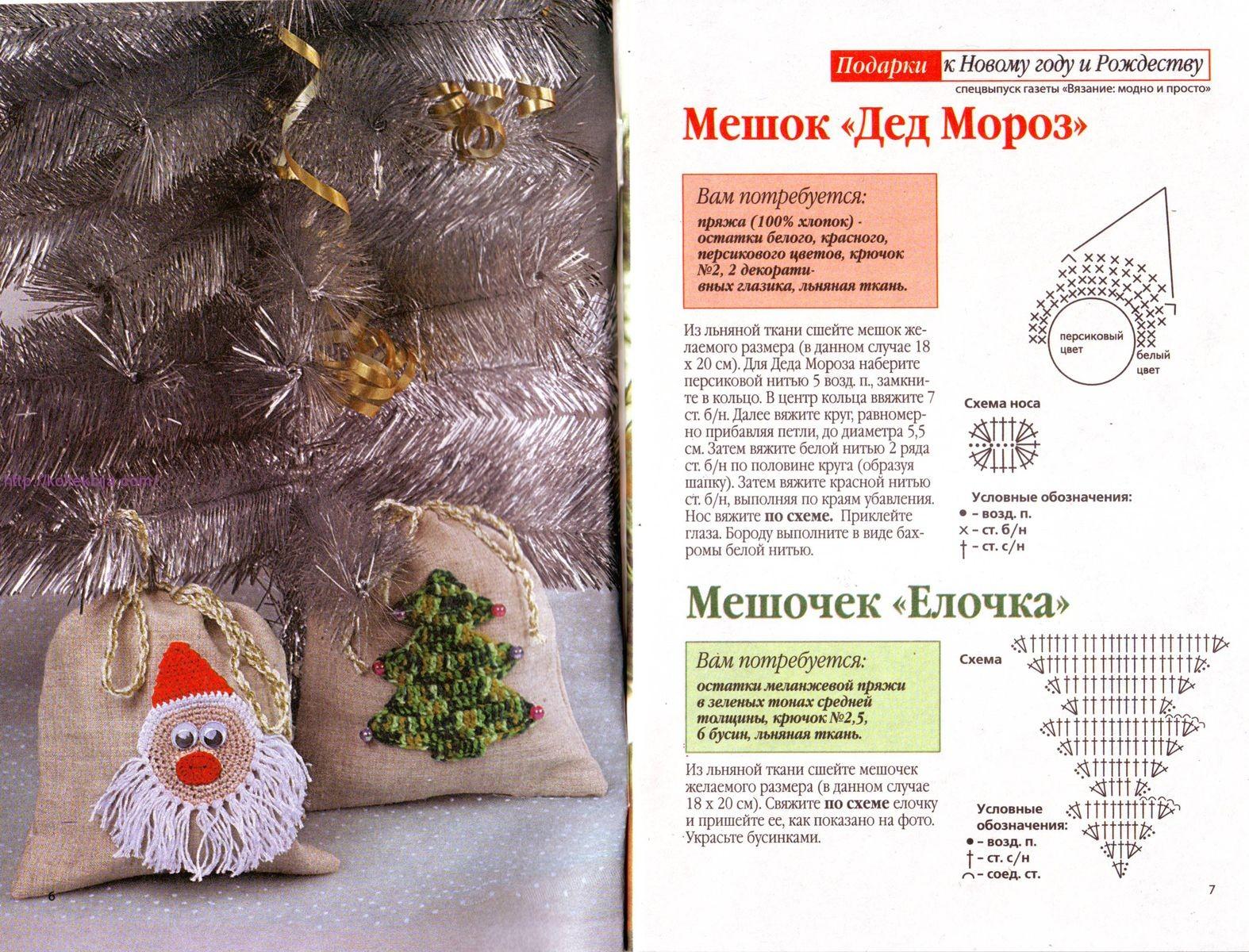 Идеи новогодних подарков крючком 51
