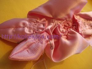 Цветы из ткани- роза