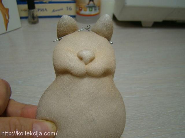 Как сделать кота из капроновых колготок своими руками