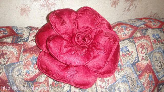 Как сделать розу подушку своими руками
