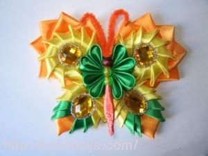 Бабочка в технике канзаши