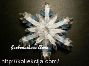 Снежинка канзаши