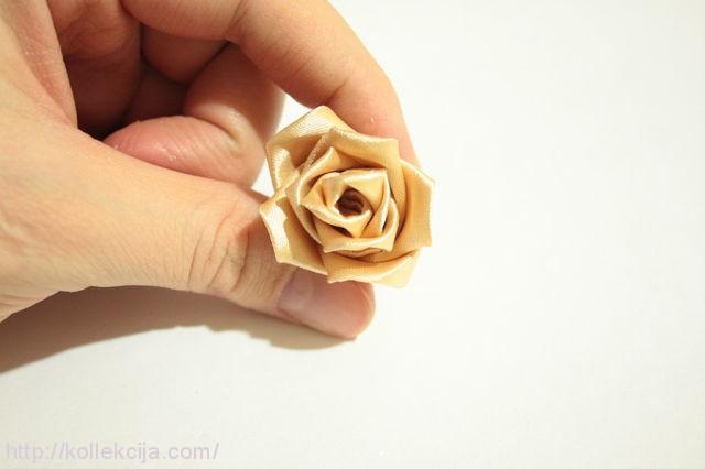 Мастер класс канзаши роза автор