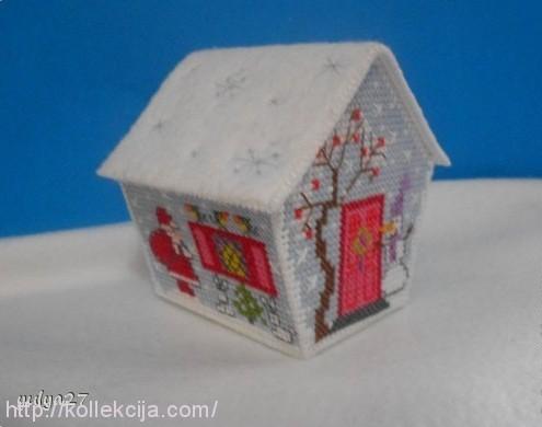 Схемы вышивки домиков на пластиковой канве
