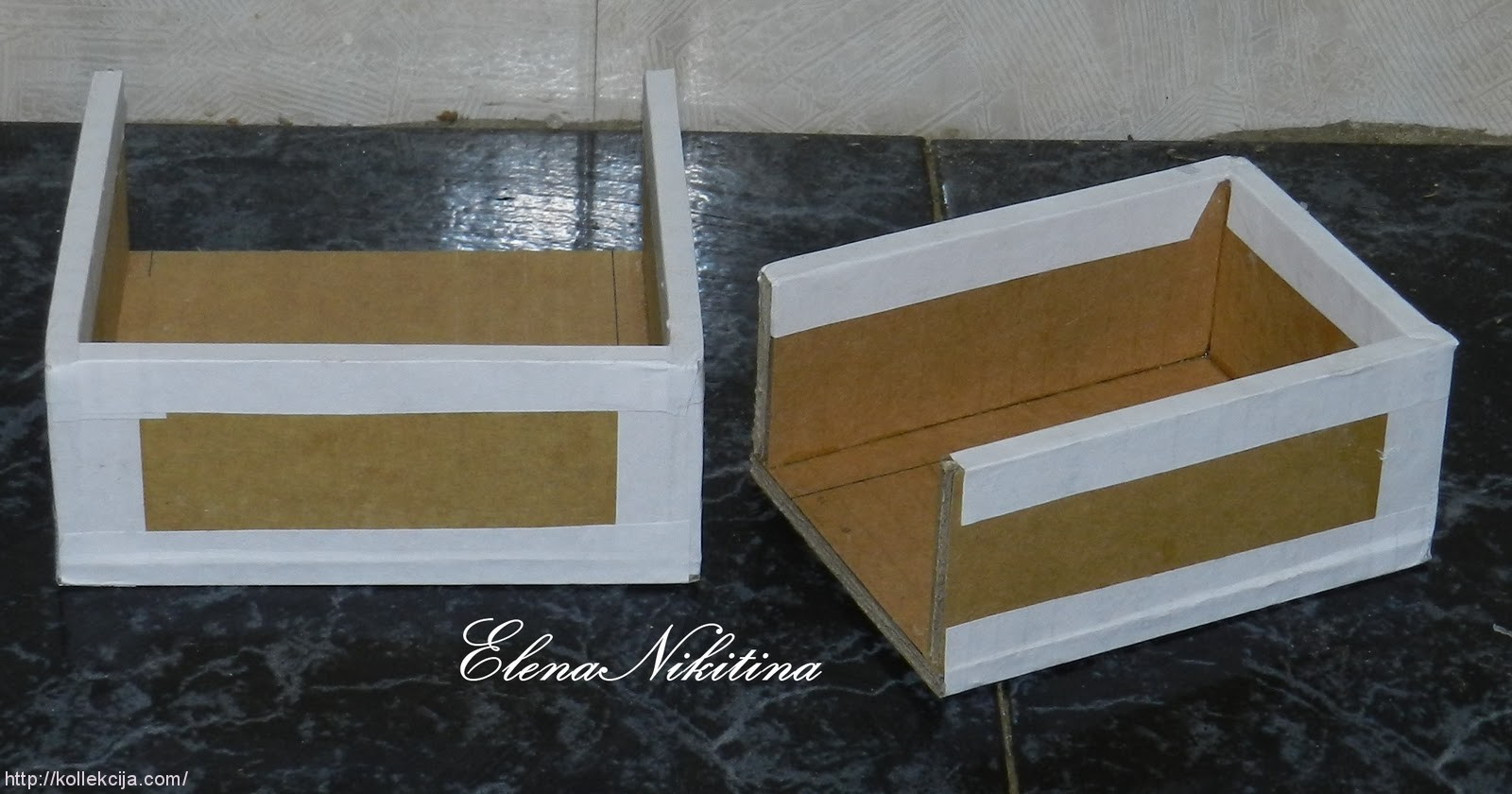 Как сделать шкафчик из картонной коробки