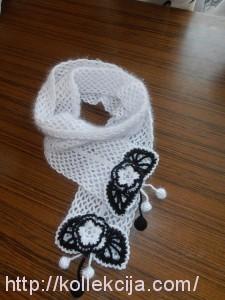 Оригинальный шарфик крючком