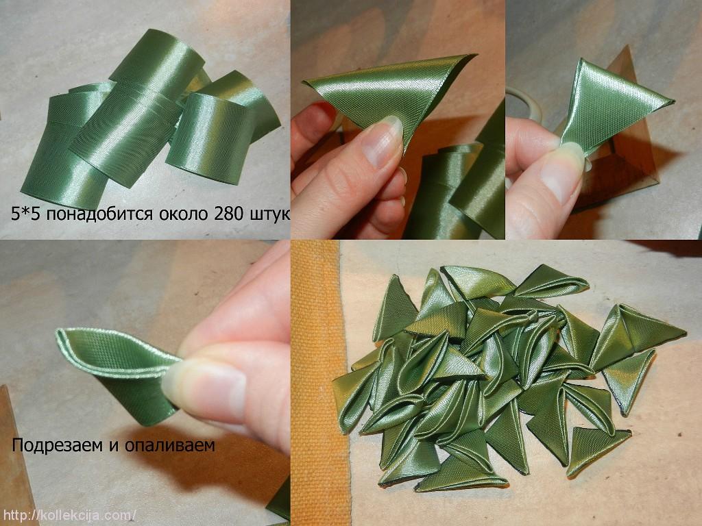 Как сделать елку из ленты