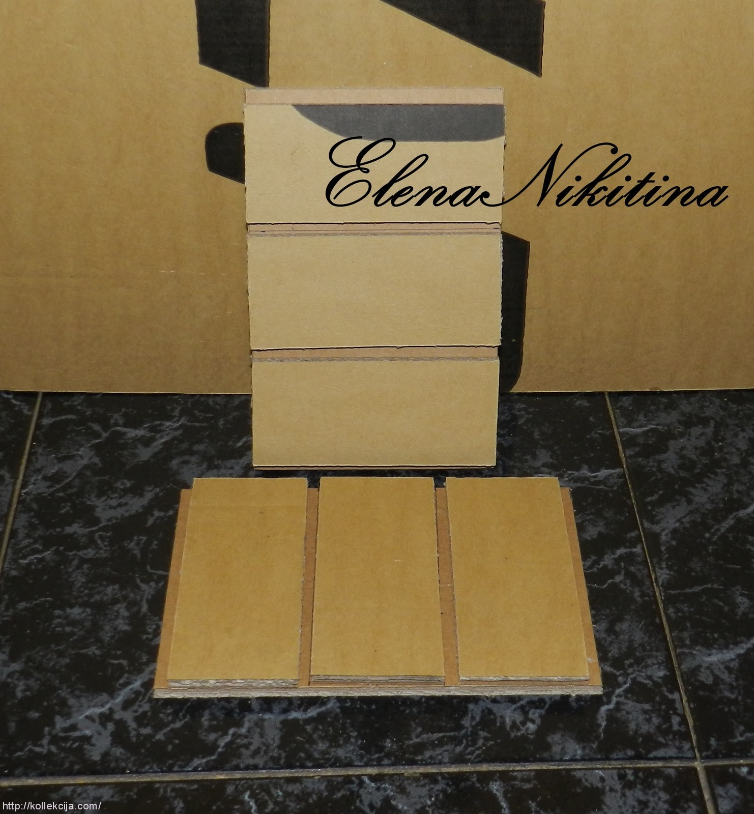 Комод для рукоделия из картона