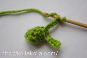 Как связать крючком елку