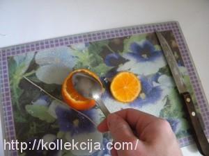 Свеча в мандарине