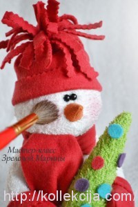 Как сшить игрушку Снеговик
