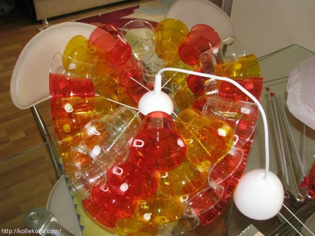 Люстра из пластиковых стаканчиков своими руками пошагово