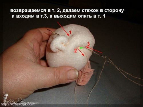 Голова куклы из капроновых колготок своими руками мастер класс