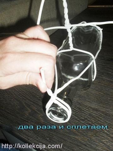 Декор стеклянных бутылок