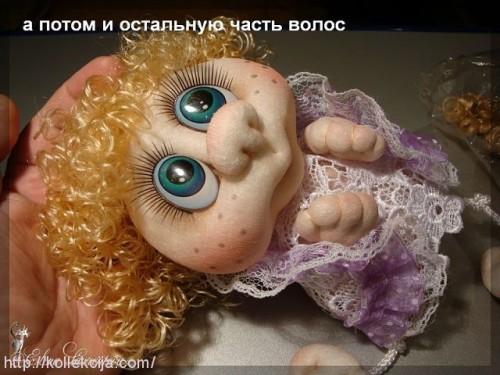 Волосы для куклы из колготок