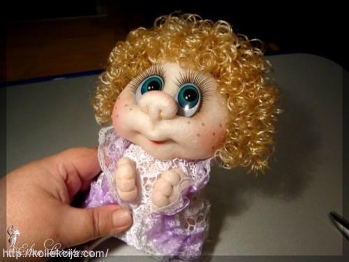 Волосы для куклы из пряжи мастер класс - c8fc3