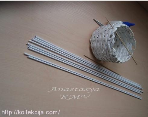 Трубочки для плетения из кассовой ленты