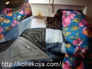 Одеяло из старых джинсов