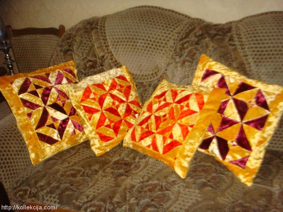 Диванные подушки своими руками в стиле пэчворк