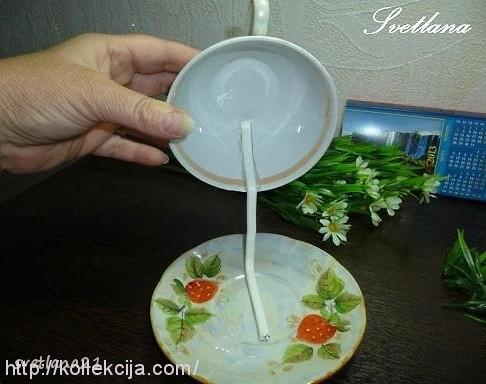 Топиарий мастер класс чашка с блюдцем
