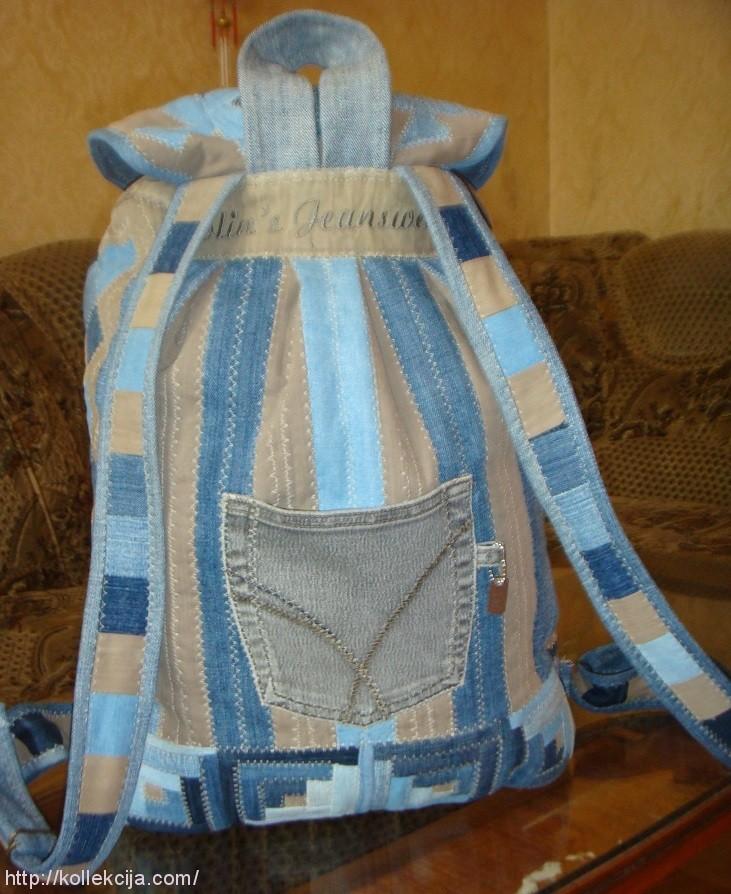 Пошив рюкзака своими руками из джинсовой ткани 74