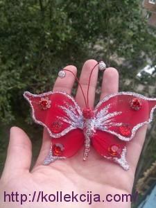 Бабочка из капрона своими руками