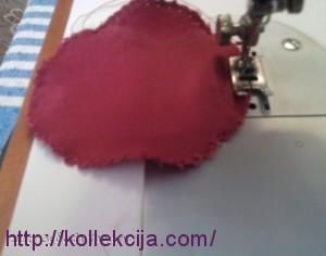 Круглая подушка в технике буфы