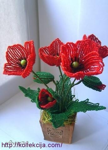 Цветы (из ткани и. Создавая своими руками мак из бисера, вы получите не только огромное удовольствие...