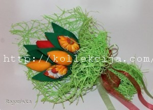 Тюльпаны из ткани своими руками