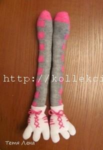 Поделки из носка - страус