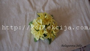 Лилия из фоамирана