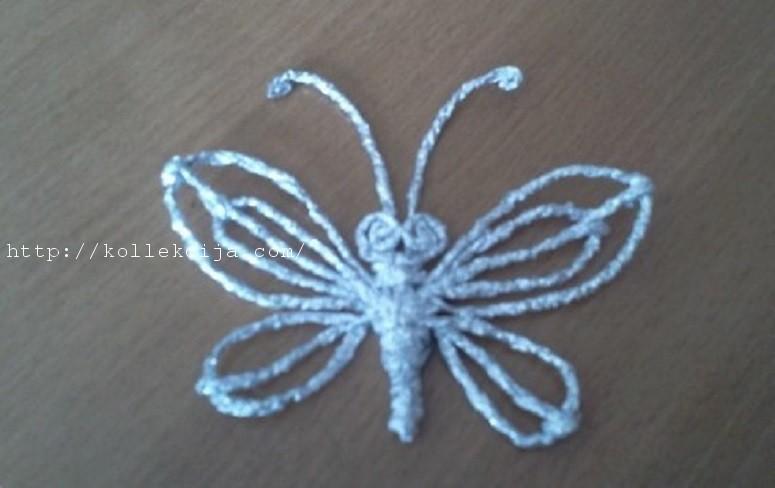 Бабочка из фольги.