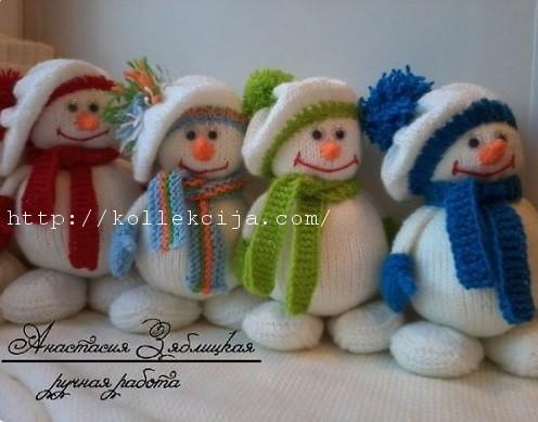 Вязаный снеговик своими руками фото