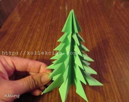 Объемные поделки на елку своими руками