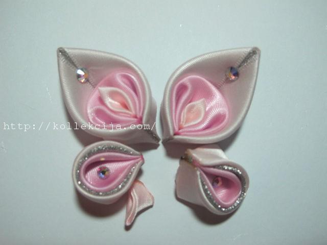 Бабочки из атласных лент своими руками с пошаговым фото