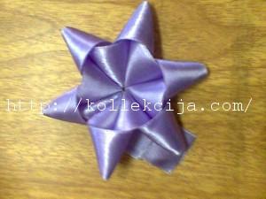 Цветок звездочка из лент