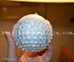 Елочная игрушка шар своими руками