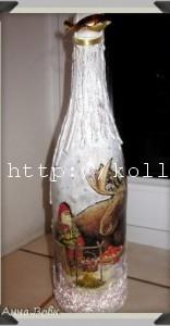 Новогодний декор шампанского