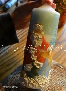 Новогодний декор свечей