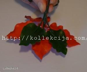 Рождественский цветок своими руками