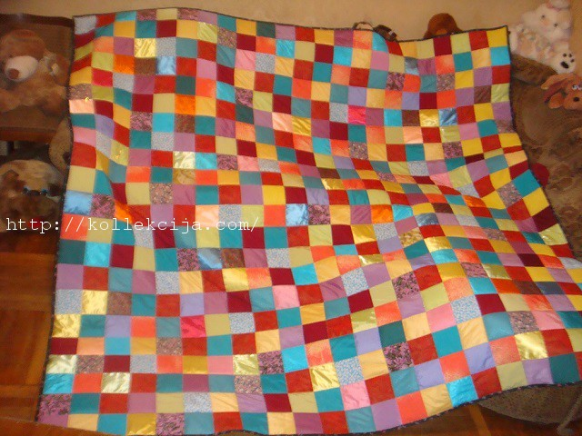 Одеяло из квадратов ткани своими руками 16