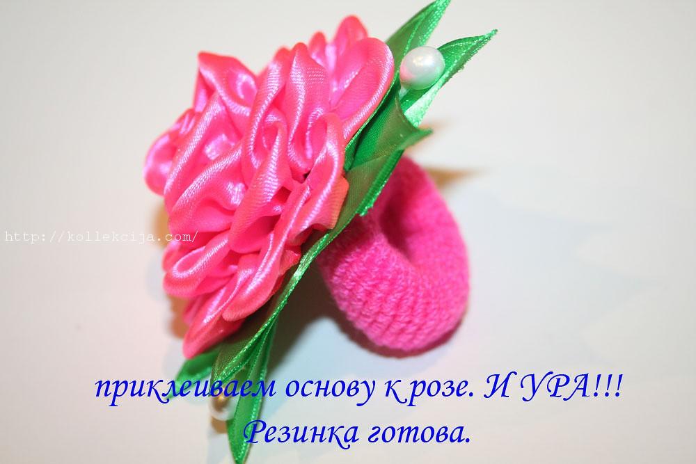 Роза из круглых лепестков