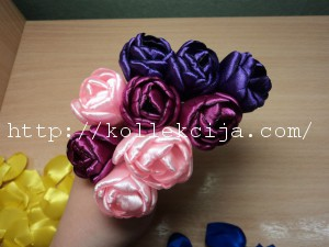 Тюльпаны из атласной ленты