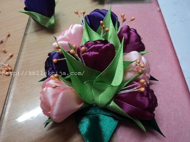 手工丝带花教程:米哈依洛夫沙欣的缎带花—郁金香(大师班) - maomao - 我随心动