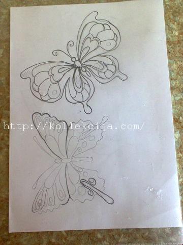 Бабочка из джута. Фото 2.